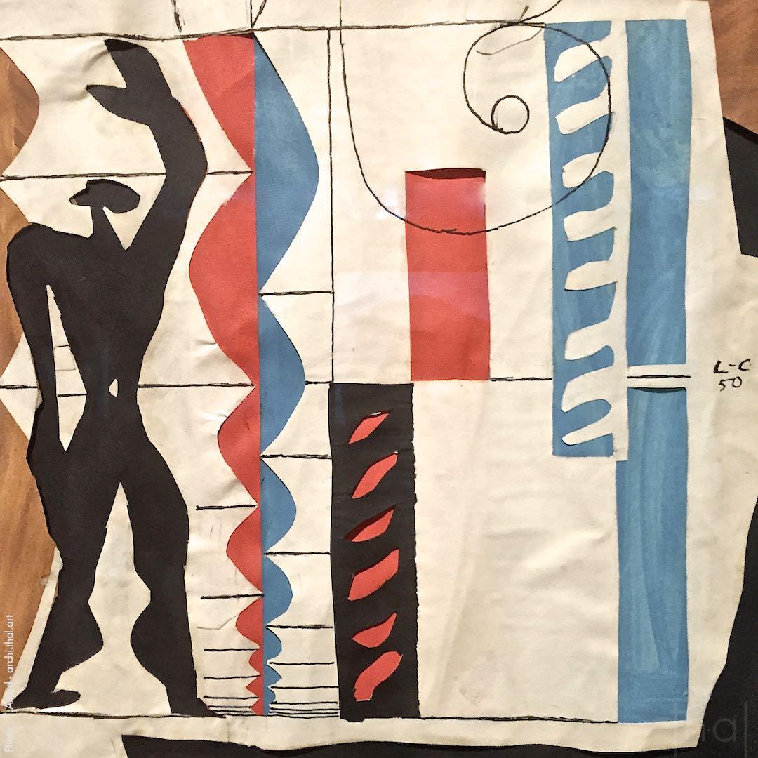 Representation of the Modulor by the artist Le Corbusier