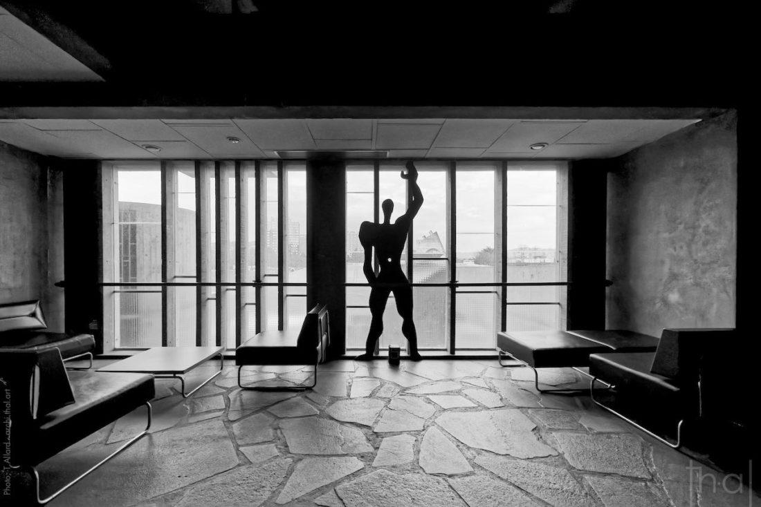 Le modulor de Le Corbusier à l'intérieur de la maison de la culture de Firminy