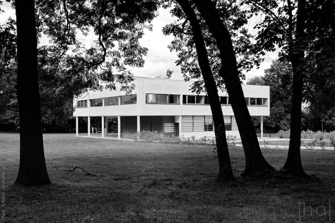 Villa Savoye de Le Corbusier par le photographe d'architecture T.Allard