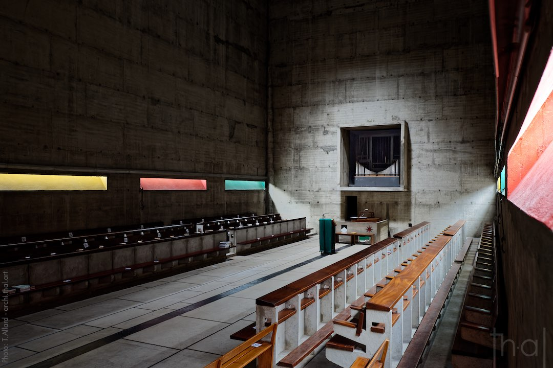 Interior of the church of the Tourette convent