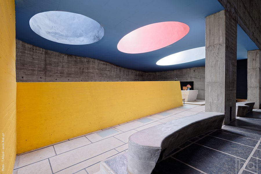 Coloured skylights at the Tourette convent